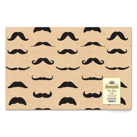 Fancy Moustache Gift Wrap](Fancy Paper)