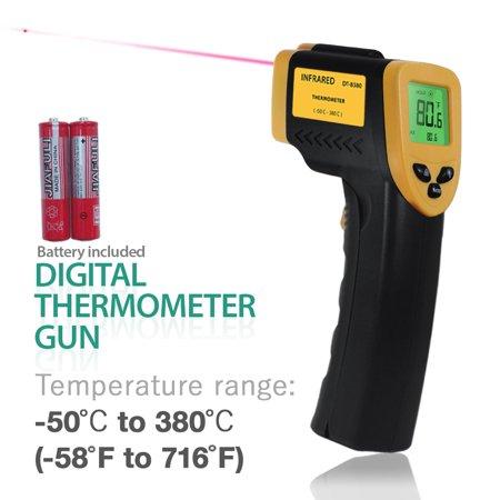 Infrared Temperature Gauge - Loadstone Studio Non-Contact Infrared Thermometer, -58℃ – 716℃ (-50℉ – 380℉), Temperature Gun with Precision Laser Technology for Kitchen Home Industrial , WMLS2417