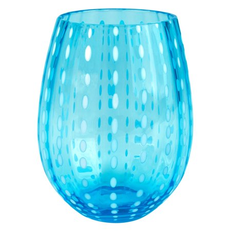 - Artland Inc. Turquoise Cambria Stemless Tumbler Glasses - Set of 4