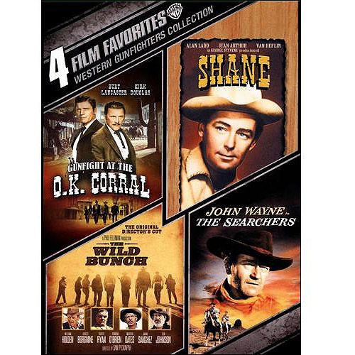 4 Film Favorites: Western Gunfighters Collection Gunfight At The O.K. Corral   Shane   The Wild Bunch   The... by