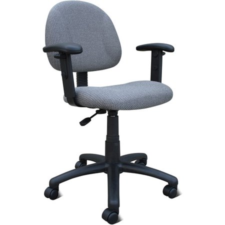 Boss Upholstered Task Chair With Adjustable Arms