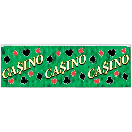 Decorative Seasonal Casino Party Accessory Fr Metallic Casino Fringe Banner Printed 1-Ply Pvc, 1 Fringe Banner per package By Beistle Ship from US](Casino Royale Decorations)