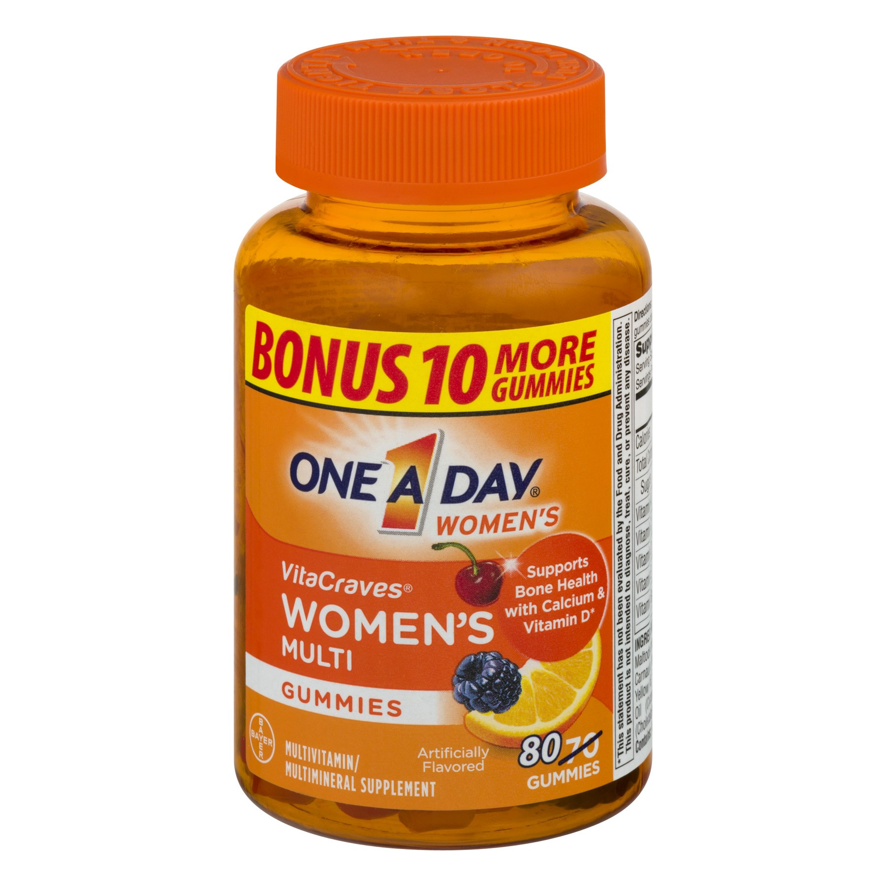 One A Day VitaCraves Women (80 Count) Multivitamin Gummies