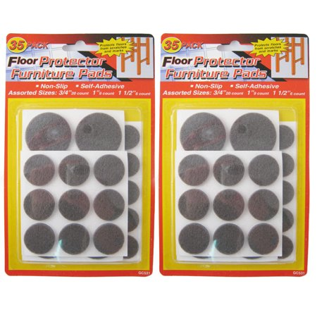 70 Self Adhesive Floor Protectors Furniture Felt Round Pads Chair Sofa Table New