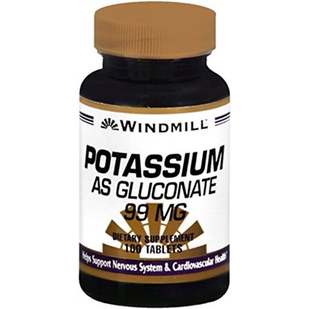 Windmill Natural Vitamins Potassium (Gluconate) 99mg 100 (Foods High In Vitamin K And Potassium)