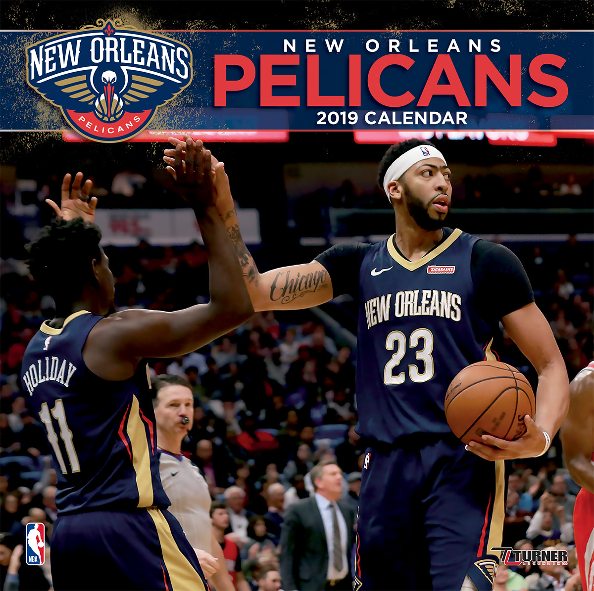 2019 12X12 TEAM WALL CALENDAR, NEW ORLEANS PELICANS