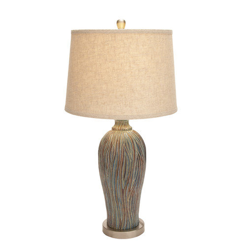 Woodland Imports Beautiful 26'' H Table Lamp with Drum Shade