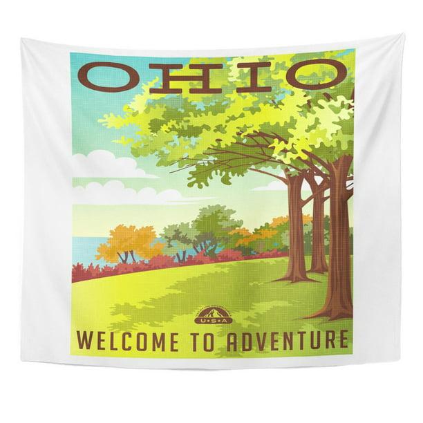 Zealgned Vintage Retro Travel United States Ohio Landscape Park Tree Wall Art Hanging Tapestry Home Decor For Living Room Bedroom Dorm 60x80 Inch Walmart Com Walmart Com