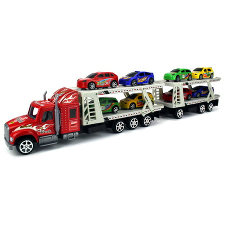 Superior Race Trailer 132 Childrens Kids Friction Toy Truck Ready