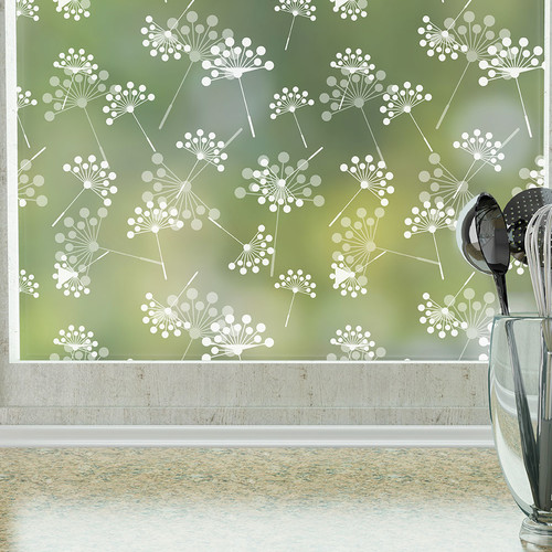 Stick Pretty Dandelion Privacy Window Film