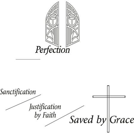 Do It Yourself Wall Decal Sticker Perfection Saved By Grace Church Ch