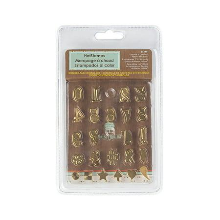 Fun Express - Number & Symbol Set Hot Stamps - Craft Supplies - Bulk Craft Accessories - Misc Bulk Craft Accessories - 24 Pieces (Bulk Stamps)