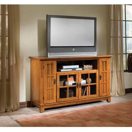 Home Styles Arts and Crafts TV Credenza, Cottage Oak