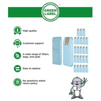 25 Pack for Oreck Commercial Upright Vacuum Disposable Bags (compares to PK800025). Genuine Green Label Product.