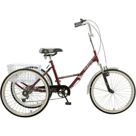 Mantis Tri-Rad 6-Speed Adult Folding Tricycle, 24