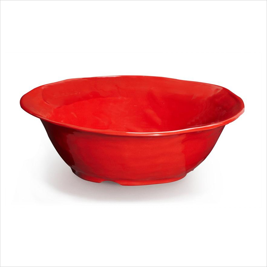 New Yorker 6.5 qt 16 x 4.5 Round Bowl Red Melamine/Case of 3