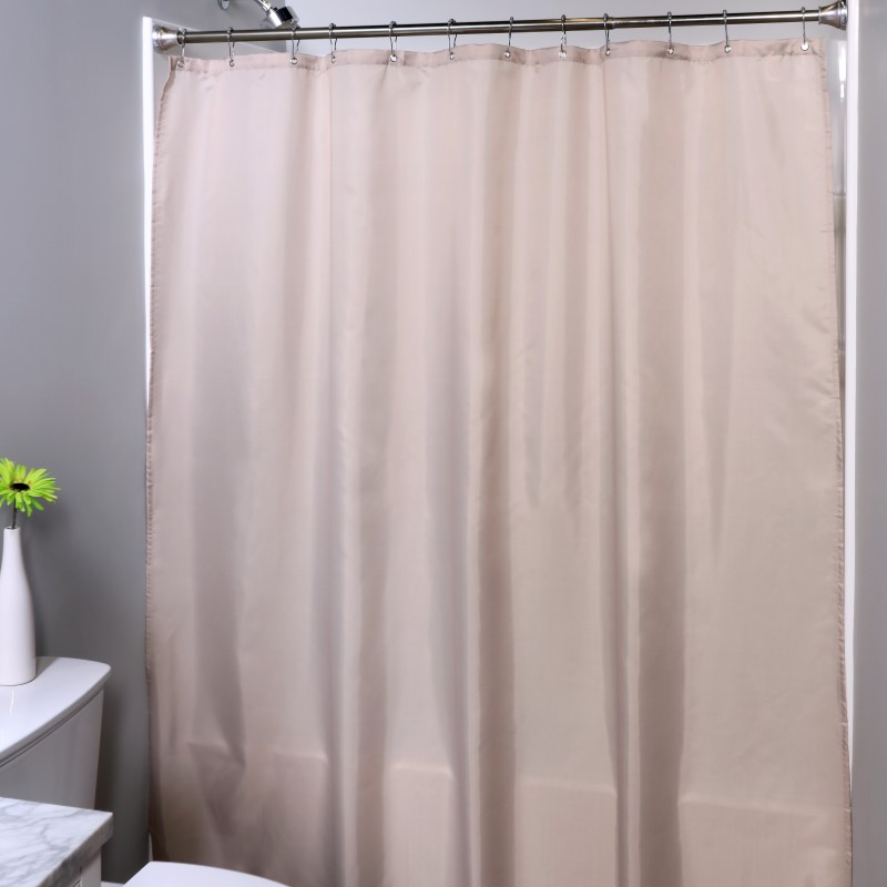 SlipX Solutions 70 in. x 72 in. Fabric Shower Curtain Liner