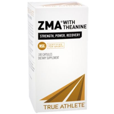 True Athlete ZMA With Theanine  Combination of Zinc  Magnesium To Help Increase Muscle Strength  Power, NSF Certified For Sport (180