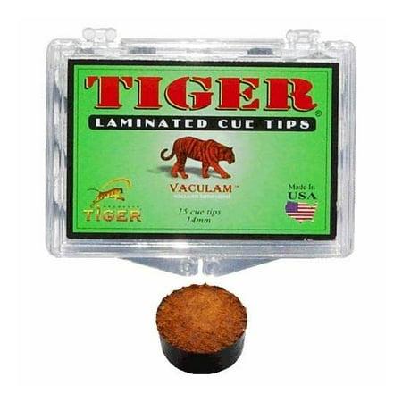 Tiger Single 11-Layer Laminated 14 mm Hard Pool Cue Tip (Tiger Laminated Tips)