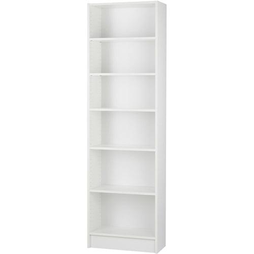 Dylan Narrow 5-Shelf Bookcase, White