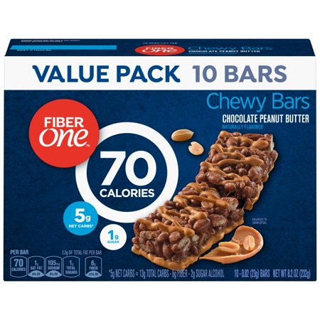 Fiber One Chewy Bar 90 Calorie Chocolate Peanut Butter 10 Fiber