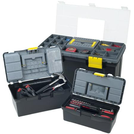 Parts & Crafts 3-in-1 Tool Box Storage Set by Stalwart - Craft Tool Box