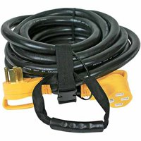 Camco 55195 RV 30' 50-Amp Male and 50-Amp Female PowerGrip Extension Cord