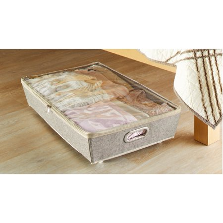 Better Homes & Gardens Charleston Collection Grey Rolling Underbed Storage