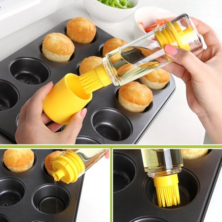 Non-Clogging Silicone Oil Brush Vinegar,Salad Dressing Dispenser Bottle Baster Brush Space