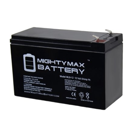 Tungsten Replacement Battery - ML8-12 - 12V 8AH Replacement for GT12080-HG FiOS Systems Battery