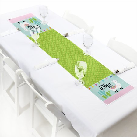 Whole Llama Fun - Petite Llama Fiesta Baby Shower or Birthday Party Paper Table Runner - 12