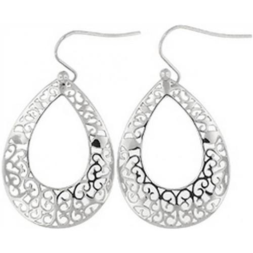 Doma Jewellery DJS02473 Sterling Silver (Rhodium Plated) Earrings - 33mm