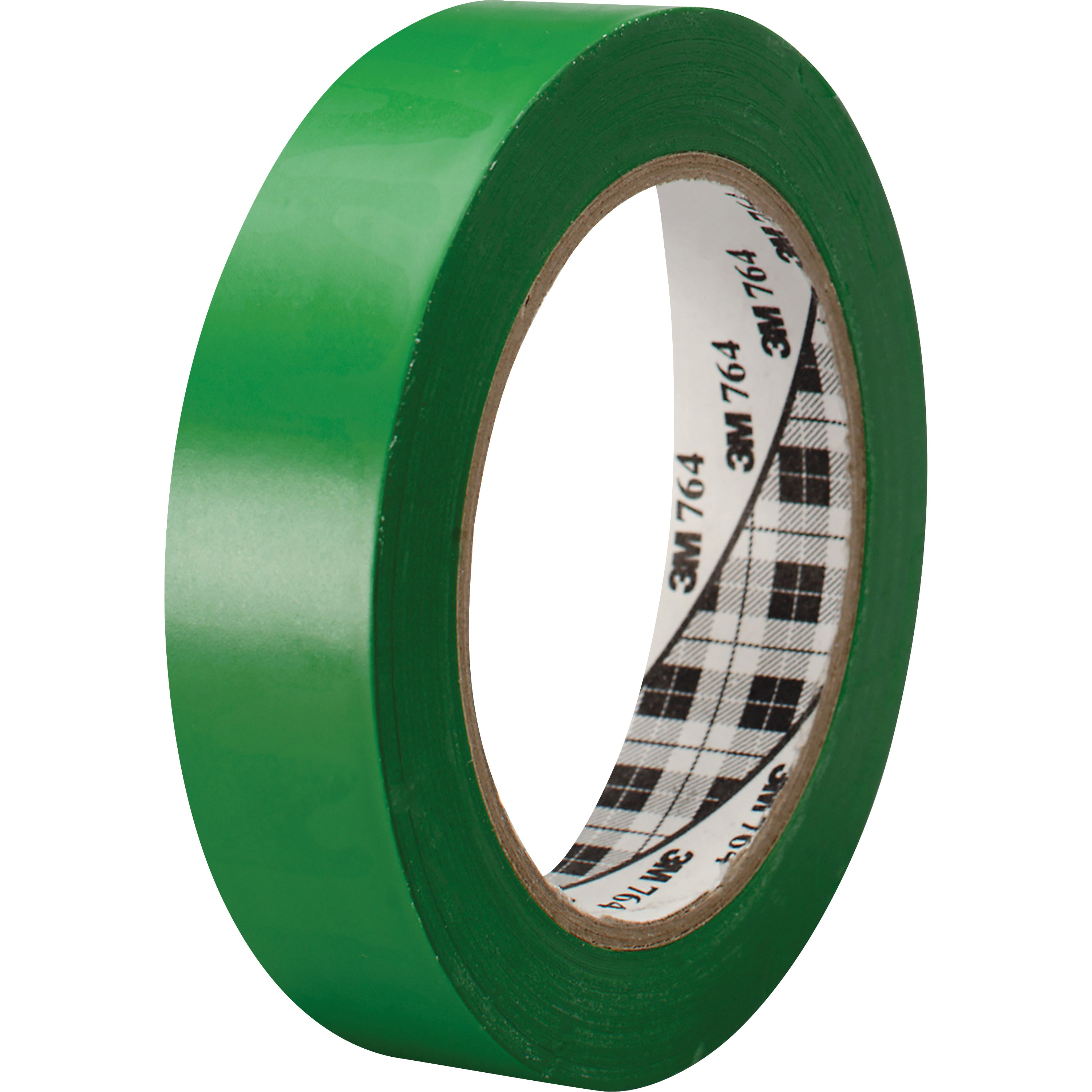 3M, MMM764136GRN, General-purpose 764 Color Vinyl Tape, 1 Roll, Green