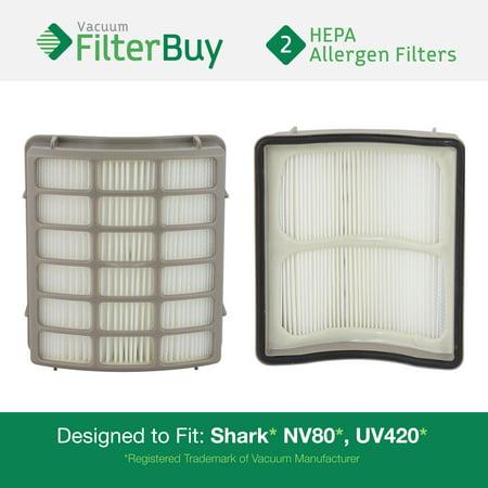2 Shark Nv80 Uv420 Hepa Replacement Filters Part