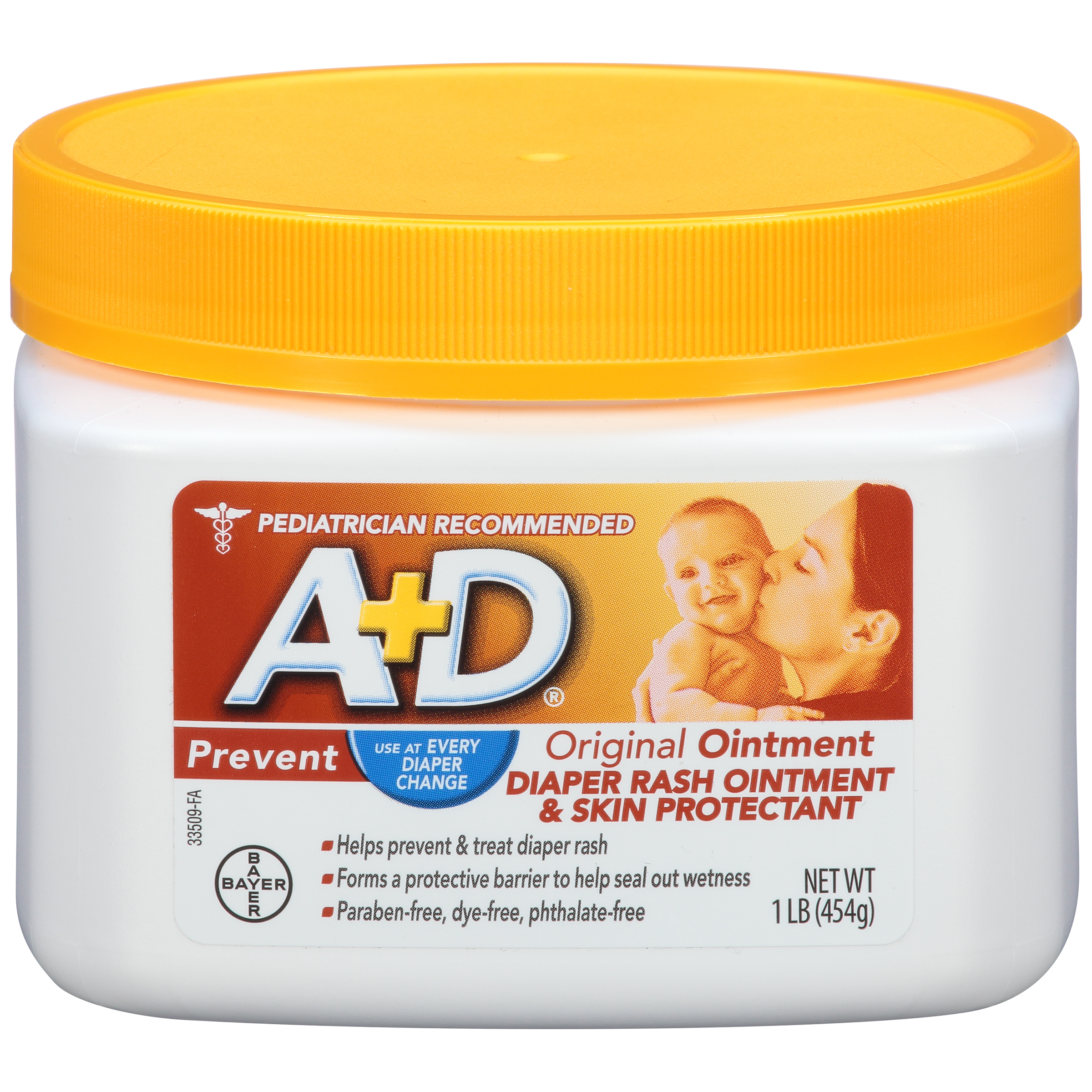 A+D Original Diaper Rash Ointment, Skin Protectant , 1 Pound Jar