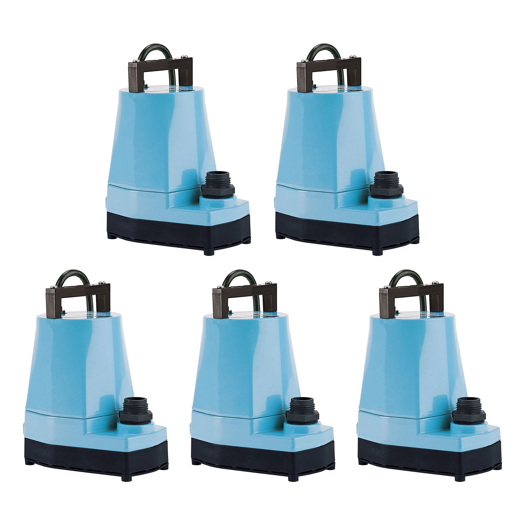 Little Giant 5 MSP 1/6 HP 1200 GPH Submersible or Inline Utility Pump (5 Pack)