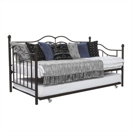Dhp The Tokyo Metal Frame Daybed And Trundle In Twin In Bronze