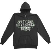 Avenged Sevenfold Men's  Vine Flourish Zippered Hooded Sweatshirt Black