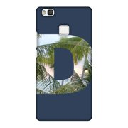 Huawei P9 Lite Case, Premium Handcrafted Designer Hard Snap on Shell Case ShockProof Back Cover for Huawei P9 Lite - Tropical Scenery- D