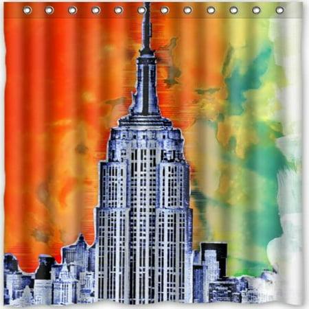 Popular Design New York City Empire State BuildingSkyline Shower Curtain 66w