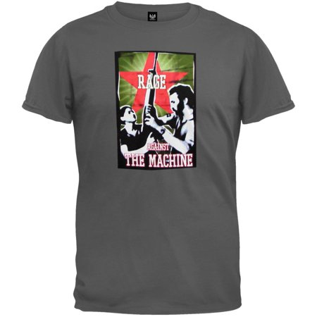 Rise Against Flag - Rage Against The Machine - Rise Charcoal T-Shirt