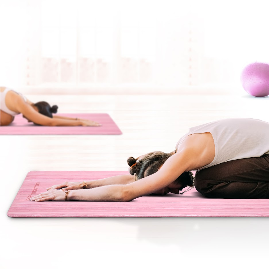 """Pink Yoga Mats Exercise Workout Knee Pad Cushion W//Sling 20/""""x10/""""x15mm Thick"""