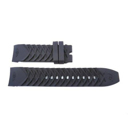 Generic Invicta S1 Rally Black 24mm Silicone Replacement Watch Strap ()