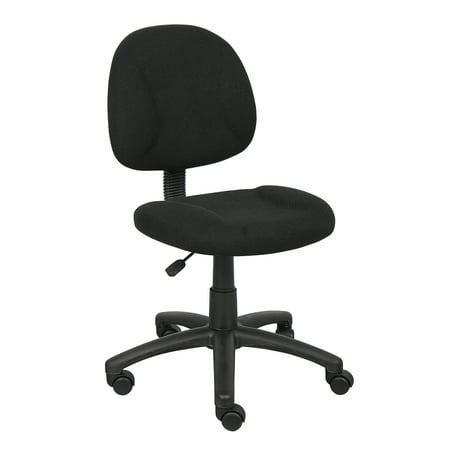 Boss Black Upholstered Deluxe Posture Task Chair, Multiple (Deluxe Office Posture Chair)
