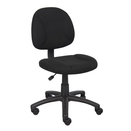 Boss Black Upholstered Deluxe Posture Task Chair, Multiple Colors