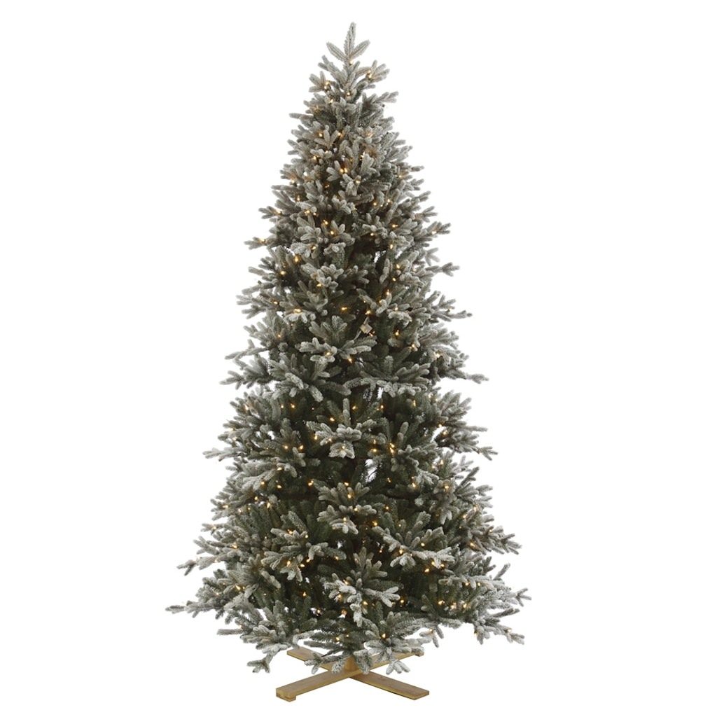 "Vickerman 316117 - 10' x 65"" Frosted Balsam Fir 1,350 Clear Miniature Lights Christmas Tree (G136286)"