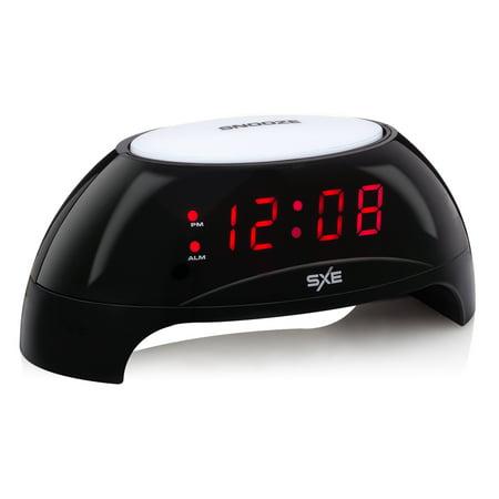 SXE85000- Sunrise Simulator/Night Light LED Alarm Clock with USB Charging Port (Led Car Clock)