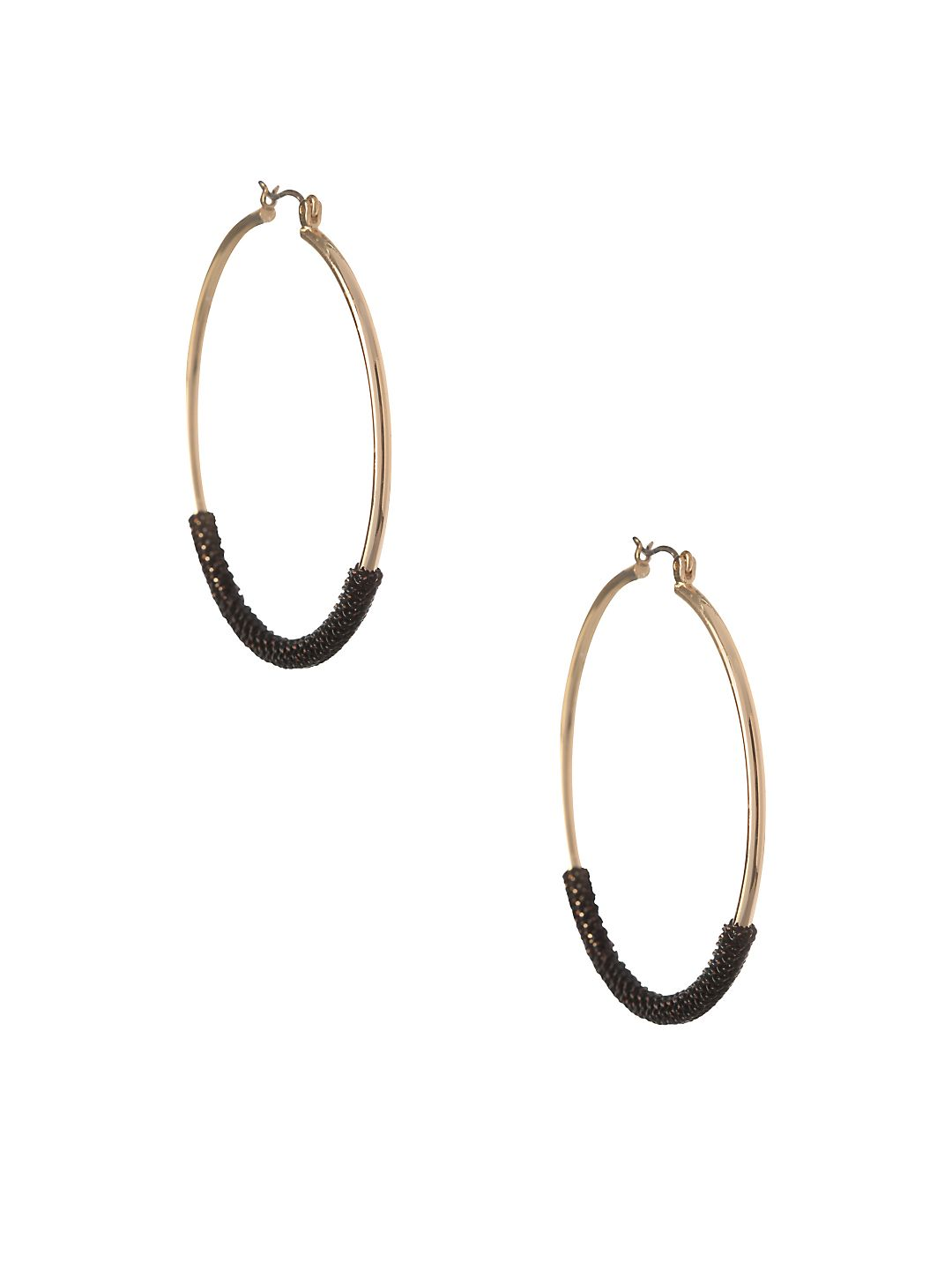 Chain Wrap Round Hoop Earrings