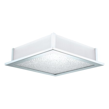 Eglo USA Auriga 92714A Crystal Ceiling Light with Frosted and Clear Glass