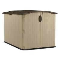 Suncast 98 cu. ft. Glidetop Horizontal Resin Storage Shed for Backyard, Garden, Patio, Light Taupe